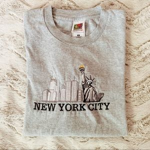 Vintage New York Embrodered Grey Tee